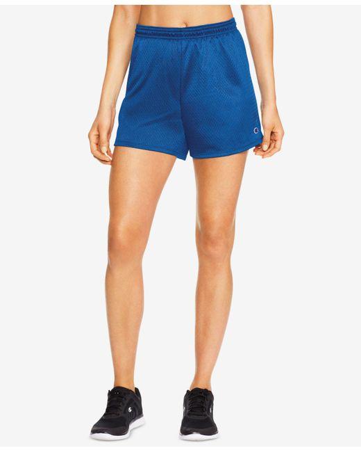 Champion - Blue Mesh Shorts - Lyst