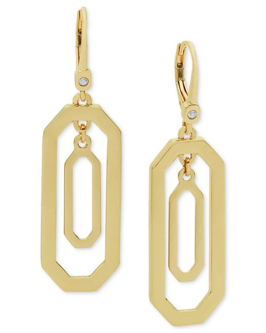 Ivanka Trump - Metallic Orbital Drop Earrings - Lyst