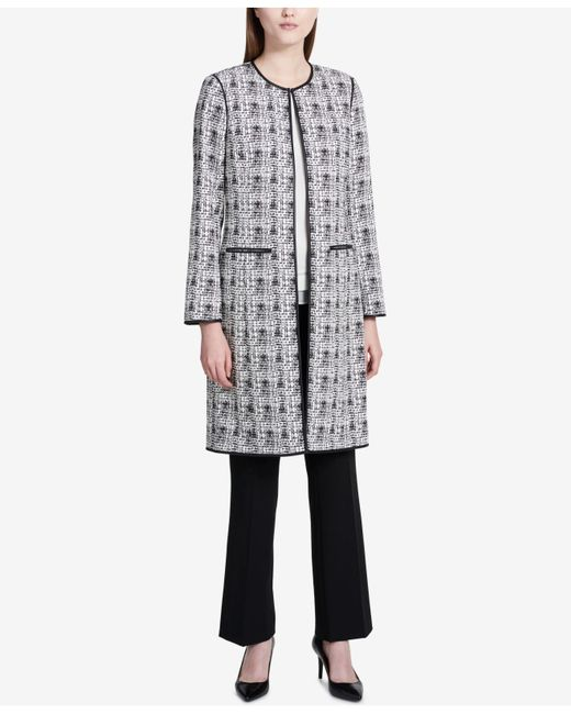 Calvin Klein | Multicolor Faux-leather-trim Printed Topper Jacket | Lyst