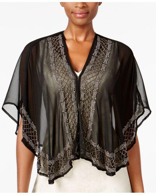 INC International Concepts   Black Beaded Evening Kimono   Lyst