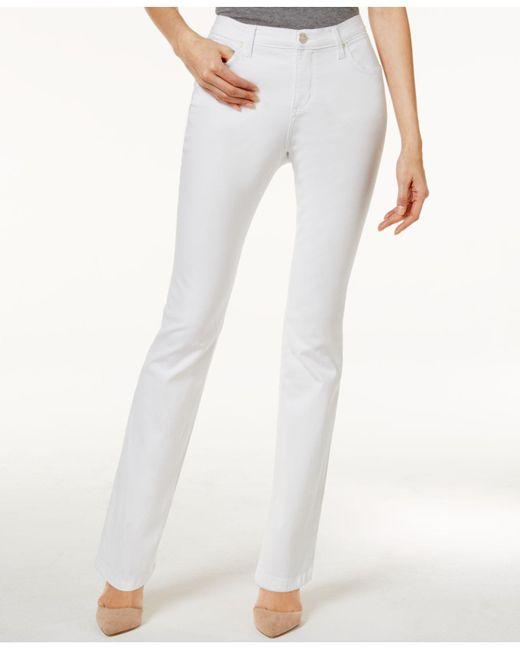 Lee Platinum - White Petite Classic-fit Colored Wash Jeans - Lyst