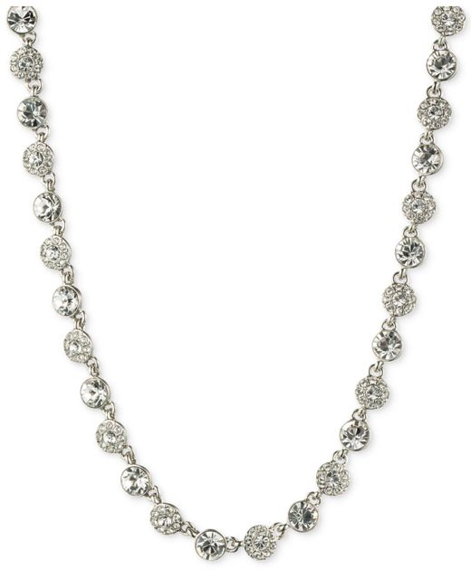 Givenchy   Metallic Silver-tone Crystal Necklace   Lyst