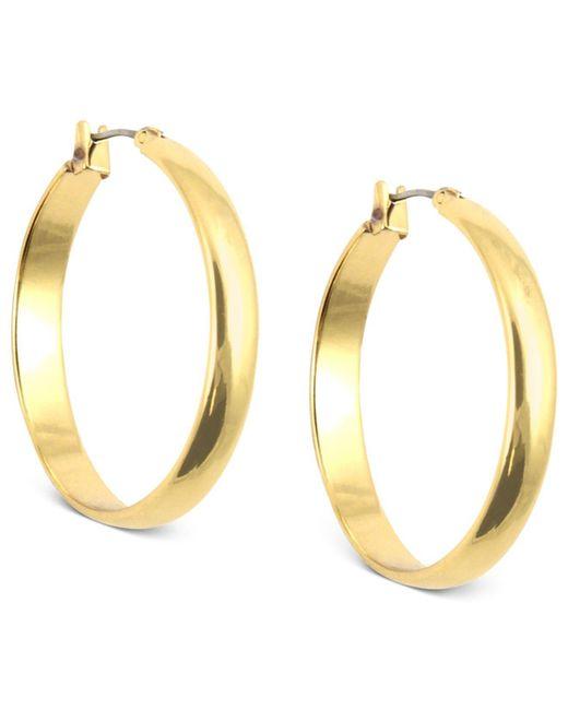 Anne Klein - Metallic Gold-tone Click-it Hoop Earrings - Lyst