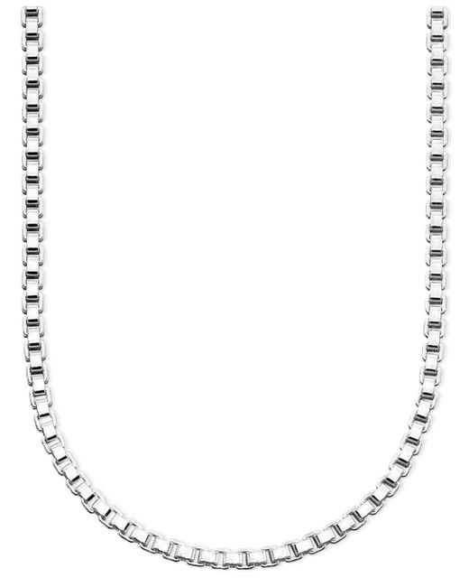 "Giani Bernini - Metallic Sterling Silver Necklace, 24"" Box Chain - Lyst"