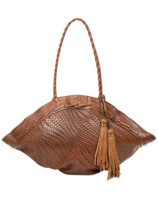 Patricia Nash   Brown Woven Trope Dome Extra-large Shoulder Bag   Lyst