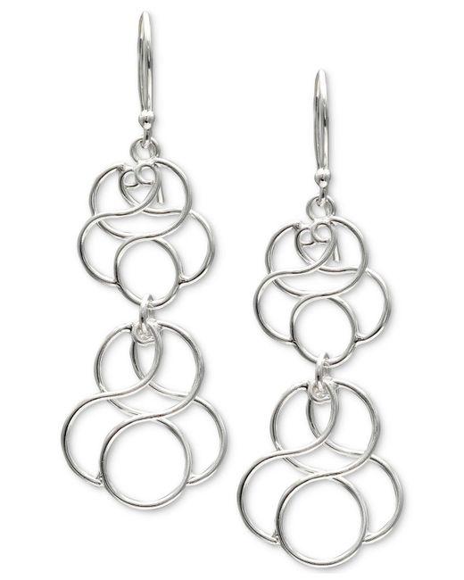 Giani Bernini | Metallic Circular Drop Earrings In Sterling Silver | Lyst