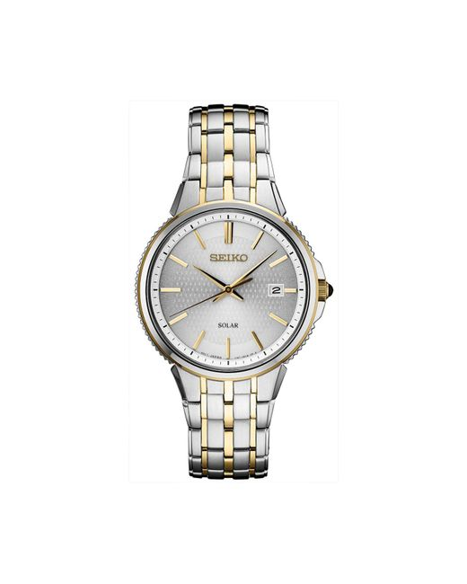 Seiko Metallic Solar Essentials Two-tone Stainless Steel Bracelet Watch 39.4mm for men