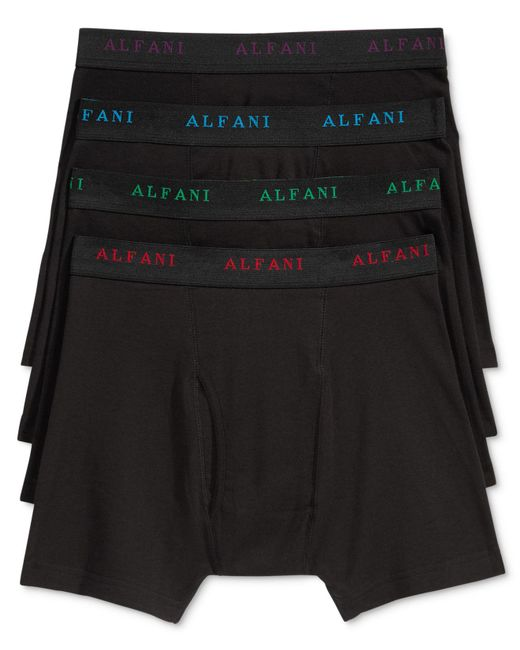 Alfani - Black Men's 4-pk. Cotton Boxer Briefs for Men - Lyst