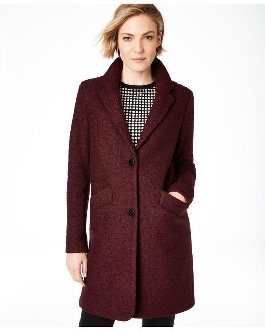 Marc New York Red Paige Bouclé Coat