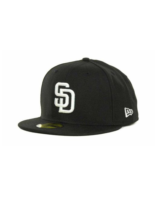 55027b686d0 KTZ - Black San Diego Padres Mlb B-dub 59fifty Cap for Men - Lyst ...