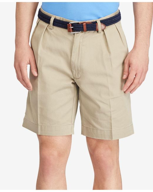Polo Ralph Lauren | Brown Classic-fit Pleated Chino Shorts for Men | Lyst
