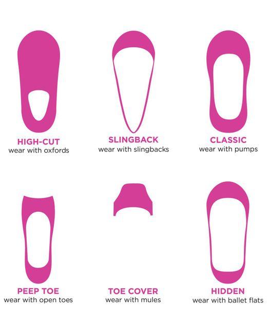 Hue Black Women's Lace Perfect Edge Liner Socks
