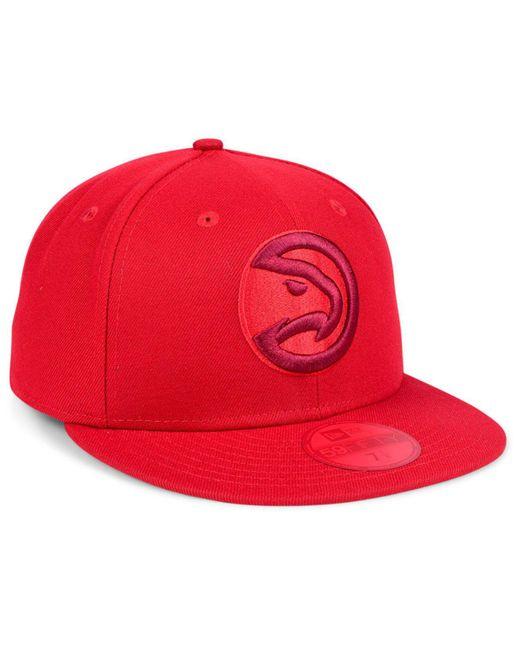 on sale a6363 afa6c ... france ktz red atlanta hawks color prism pack 59fifty cap for men lyst  55ad7 1004b