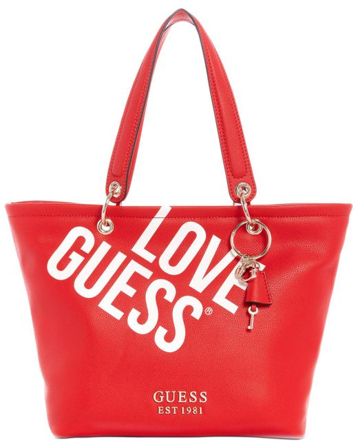 Guess Red Michy Tote