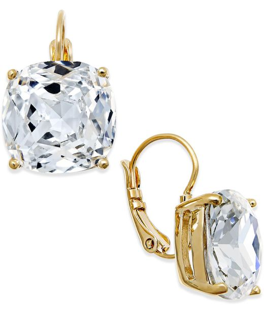 Kate Spade - Metallic Crystal Small Drop Earrings - Lyst