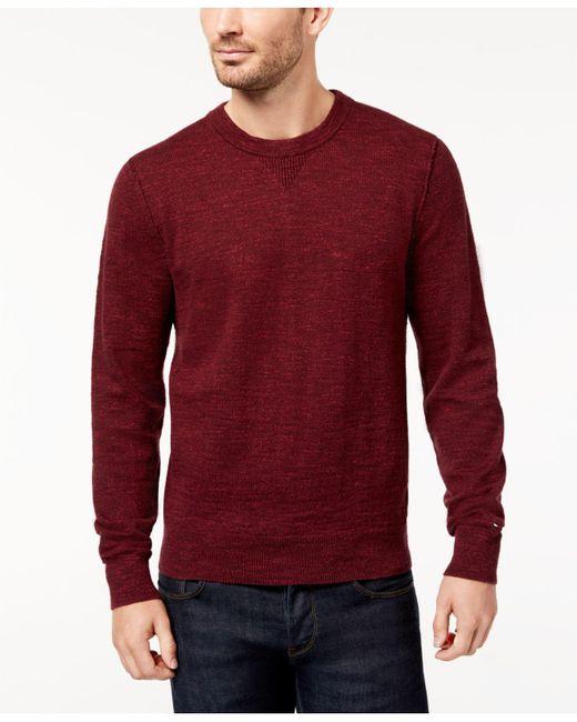 Tommy Hilfiger | Red Men's Jasper Sweater for Men | Lyst
