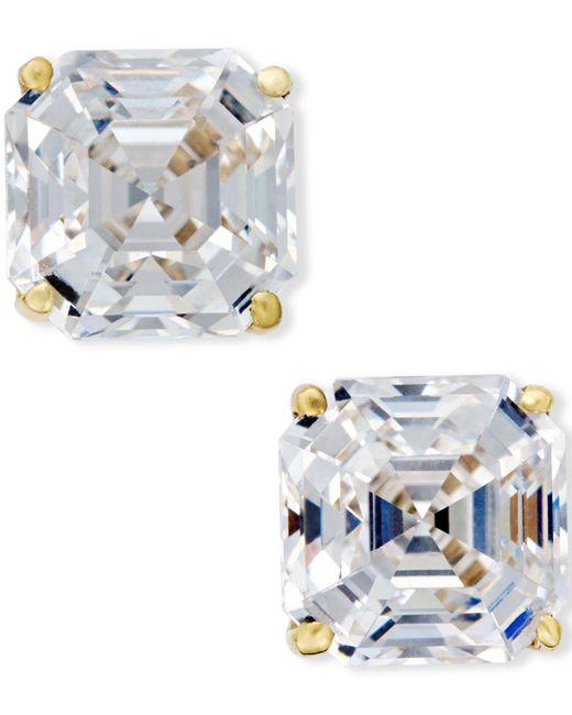 Macy's - Metallic Cubic Zirconia Stud Earrings In 14k Gold - Lyst