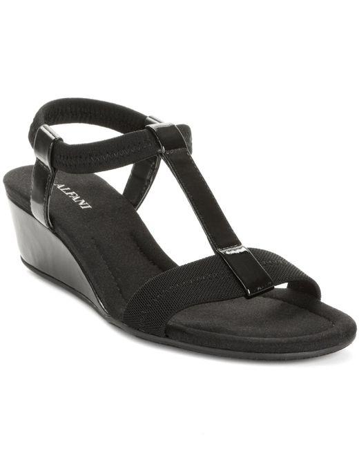 Alfani - Black Voyage Wedge Sandals - Lyst