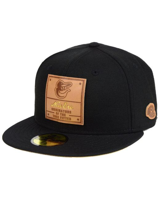 KTZ - Black Baltimore Orioles Vintage Team Color 59fifty Fitted Cap for Men  - Lyst ... 7dfd56834f04