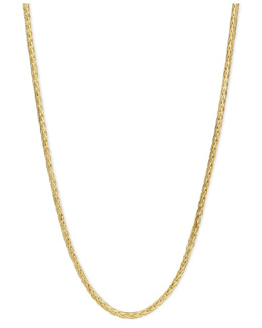 "Macy's - Metallic 14k Gold Necklace, 16"" Diamond Cut Wheat Chain (9/10mm) - Lyst"