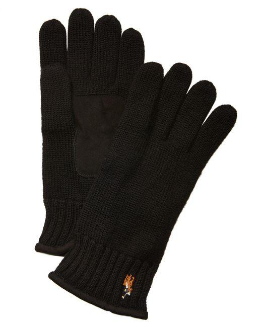 Polo Ralph Lauren - Black Men's Classic Lux Merino Wool Gloves for Men - Lyst