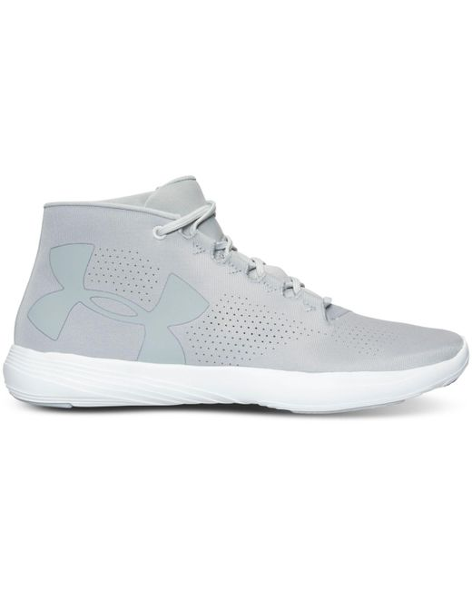 ... Under Armour | Gray Street Precision Mid Running Sneakers From Finish  Line for Men | Lyst ...
