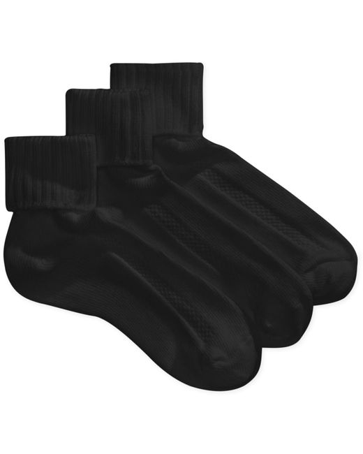 Hue - Black Aircushion Turncuff Socks - 3 Pack - Lyst