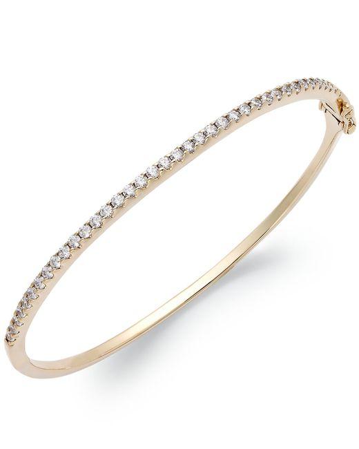 Arabella | Metallic 14k Gold Over Sterling Silver Swarovski Cubic Zirconia Bangle Bracelet (1-3/4 Ct. T.w.) | Lyst