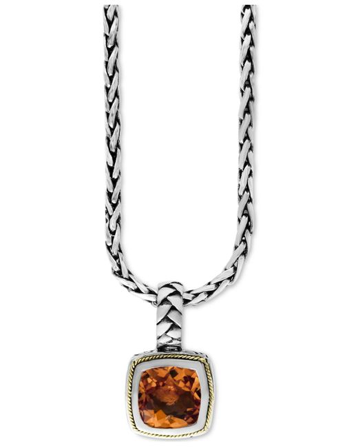 Effy Collection | Metallic Citrine (4 Ct. T.w.) Pendant Necklace In 18k Gold And Sterling Silver | Lyst