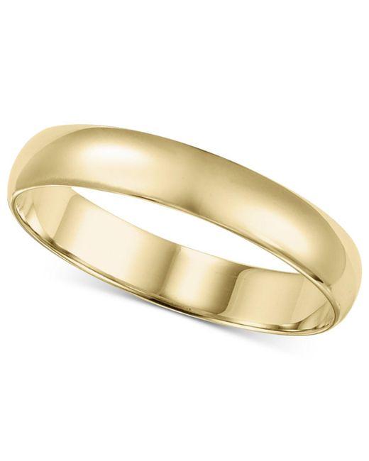 Macy's - Metallic 14k Gold Ring, 4mm Wedding Band for Men - Lyst