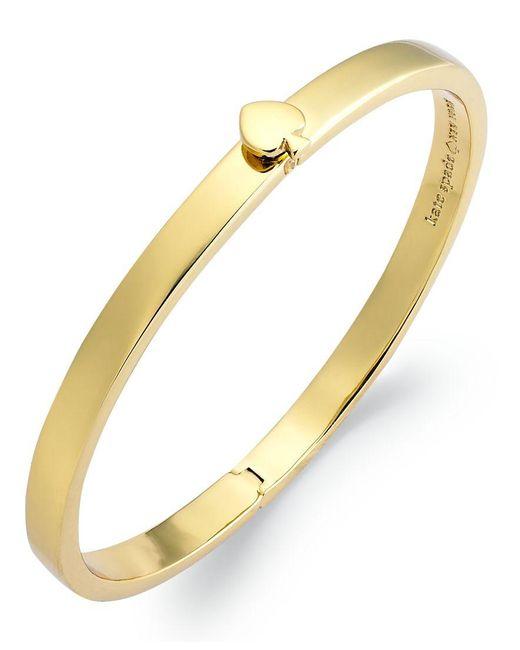 kate spade new york   Metallic Bracelet, 12k Gold-plated Spade Hinged Thin Bangle Bracelet   Lyst