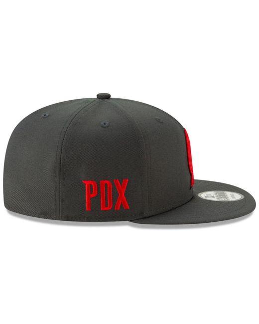 quality design e67ea aee4e ... netherlands ktz multicolor portland trail blazers city series 2.0 9fifty  snapback cap for men lyst ee87a