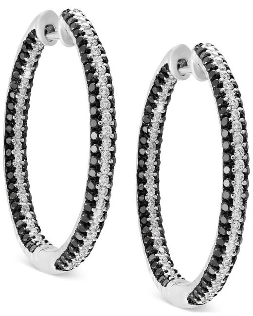 Effy Collection | Diamond In & Out Hoop Earrings (2 Ct. T.w.) In 14k White Gold | Lyst