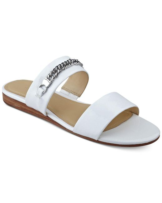 Marc Fisher   White Faee Two-piece Slide-on Sandals   Lyst