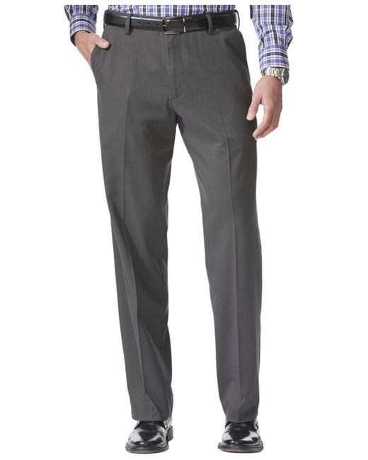 Dockers | Gray Relaxed Fit Comfort Khaki Flat Front Pants for Men | Lyst