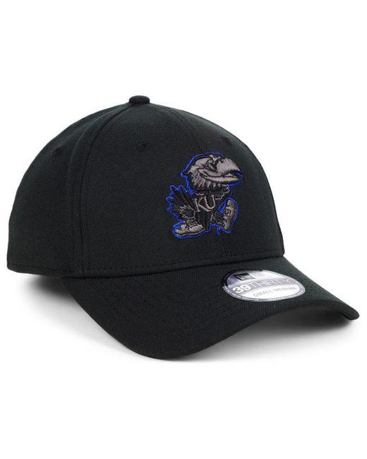 new concept 0c407 020dd ... KTZ - Kansas Jayhawks Black Pop Flex 39thirty Cap for Men - Lyst ...