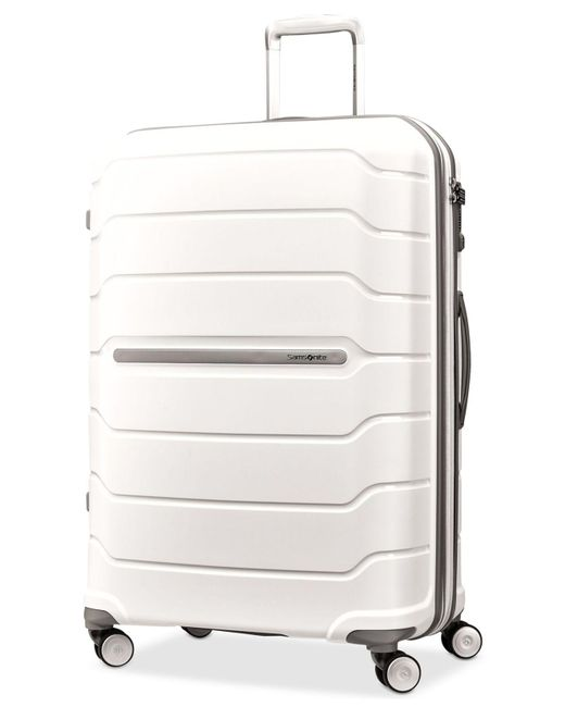 "Samsonite - White Freeform 28"" Hardside Spinner Suitcase - Lyst"