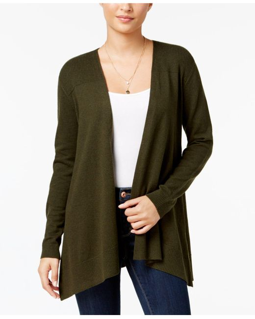Style & Co. | Green Mixed-knit Open Cardigan | Lyst