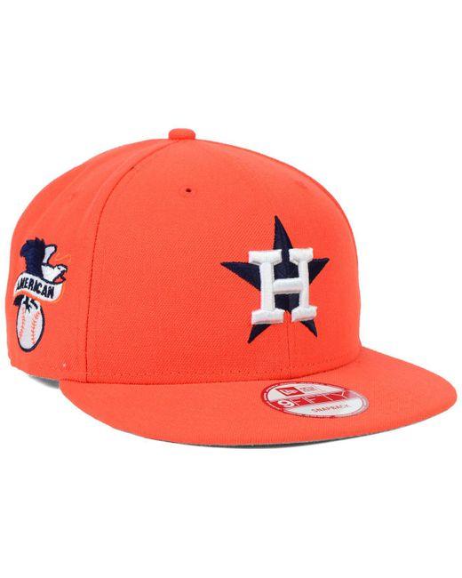 best authentic e379b fa508 ... KTZ - Orange Houston Astros 2 Tone Link 9fifty Snapback Cap for Men -  Lyst ...