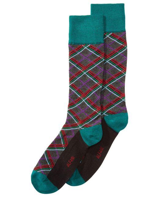 Alfani - Green Plaid Socks, Created For Macy's for Men - Lyst