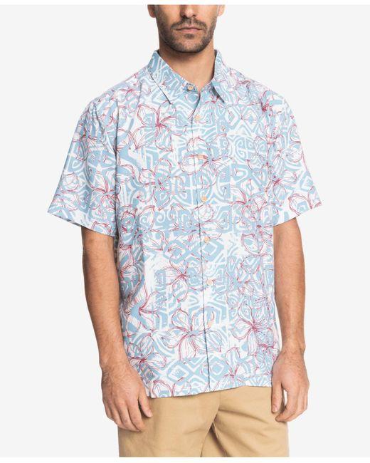 Quiksilver Blue He Enalu Short Sleeve Shirt for men