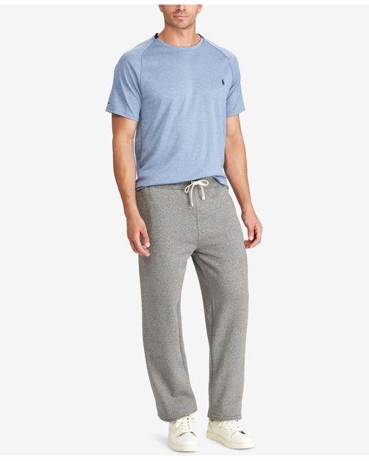 Polo Ralph Lauren Big & Tall Cotton-blend-fleece Pants in Gray for ...