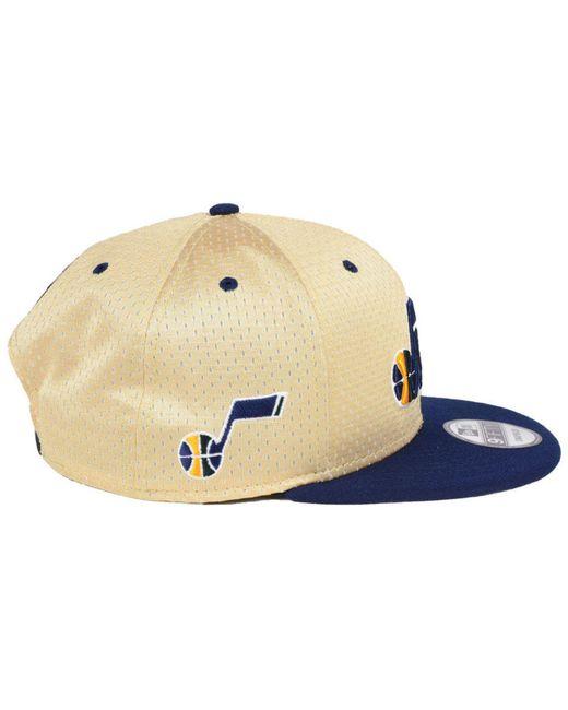 quality design b7bf5 3406d ... coupon code for ktz blue utah jazz champagne 9fifty snapback cap for  men lyst b7c65 a81af