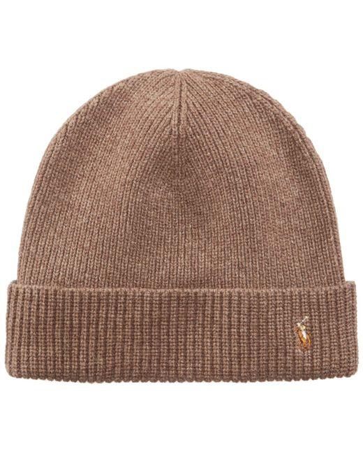 Polo Ralph Lauren - Brown Hat, Wool Signature Cuff for Men - Lyst