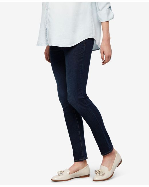 Luxe Essentials - Blue Maternity Rinse Wash Ankle Jeans - Lyst