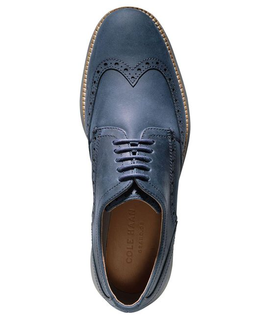 80b69a51f2736 Cole Haan Men's Original Grand Wing Oxfords in Blue for Men - Lyst