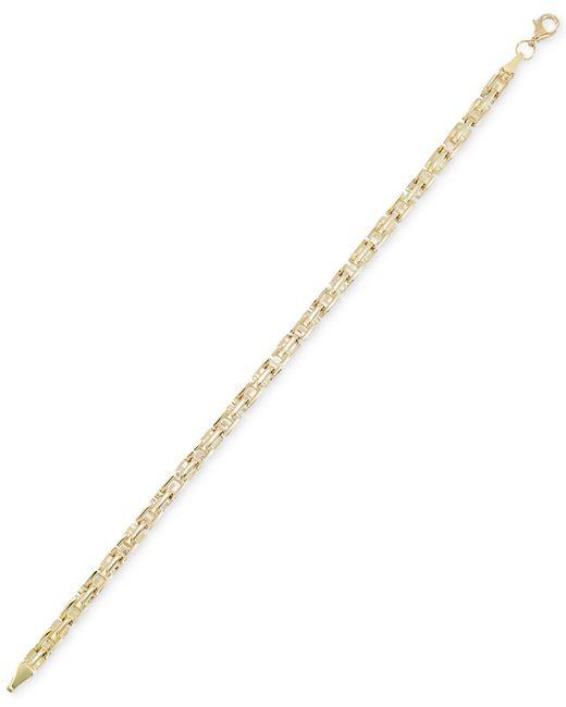 Macy's Metallic Greek Key Chain Bracelet In 10k Gold