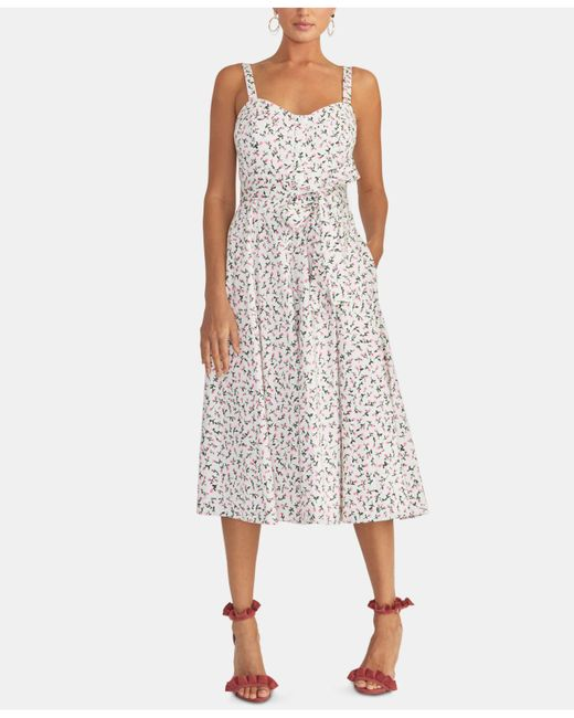Rachel Rachel Roy Floral Print Fit Amp Flare Dress Lyst