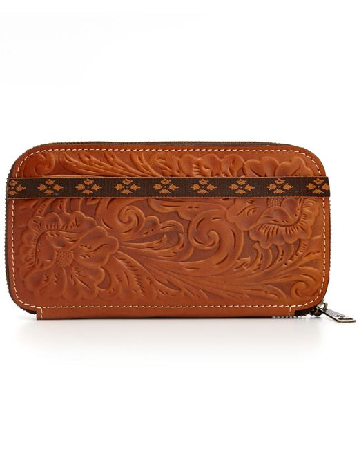 Patricia Nash - Brown Tooled Oria Wallet - Lyst