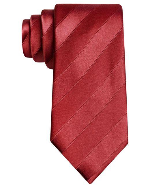 Sean John - Red Wilson Solid Tie for Men - Lyst